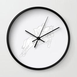 Showjumper in Grey Wall Clock