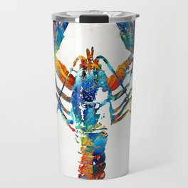 Colorful Lobster Art by Sharon Cummings Travel Mug