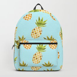 Blue Tropical Pineapple Pattern Backpack