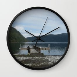 Love on the Lake Wall Clock