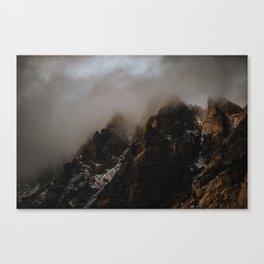 Jagged Peaks Canvas Print