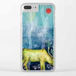 Golden Deer Clear iPhone Case