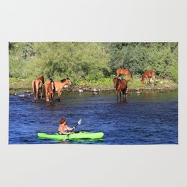 Kayaking with the Horses Rug