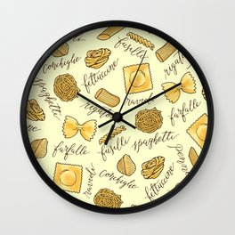 Know Your Pasta Wall Clock