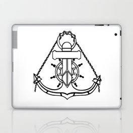 Anchor and Steering Helm [Outline] Laptop & iPad Skin