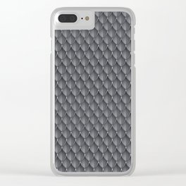 Medieval Fantasy | Metal scales  pattern Clear iPhone Case