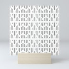 Minimalist Mudcloth 3 Black on White Mini Art Print