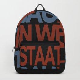 Bauhaus Poster Backpack
