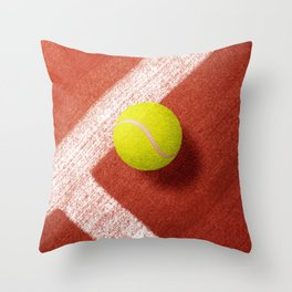 BALLS / Tennis (Clay Court) Throw Pillow
