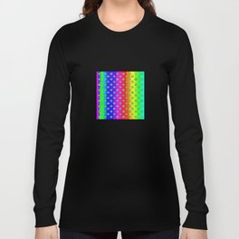 Rainbow and green flowers Long Sleeve T-shirt