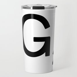 Letter F - Custom Scrabble Tile Letter Art - Scrabble F Travel Mug