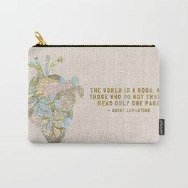 A Traveler's Heart + Quote Carry-All Pouch