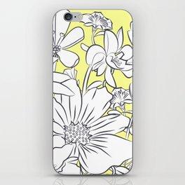 Flower Meadow Yellow iPhone Skin