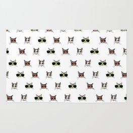 Cats Wearing Sunglasses Pattern Rug
