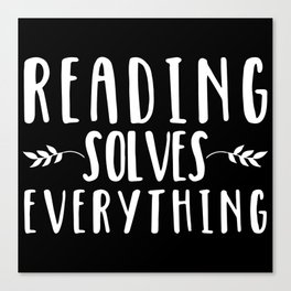 Reading Solves Everything (inverted) Canvas Print