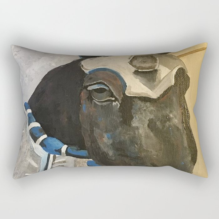 Abe; The Jousting Horse Rectangular Pillow