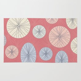 Circle Ovals and Lines Rug