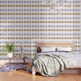 lollipops, colorful spiral candy cane with twisted design Wallpaper