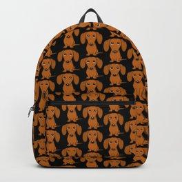 Shorthaired Dachshund Cartoon Dog Backpack