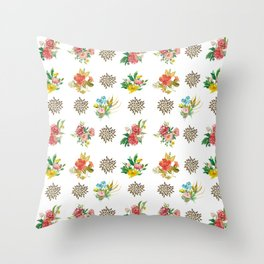 Pretty Floral Boutiques of Flowers Throw Pillow