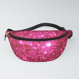 Hot Pink Glitter Galaxy Stars Fanny Pack