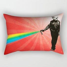 Pepper Spray Cop Rainbow - Pop Art Rectangular Pillow