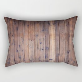 Dark Brown Wood Rectangular Pillow