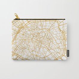 PARIS FRANCE CITY STREET MAP ART Carry-All Pouch