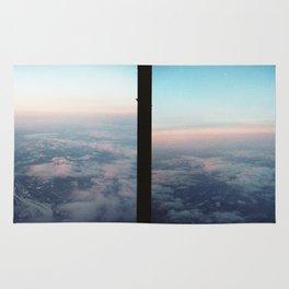 Aerial photo of Boston area - Sunset sky Rug