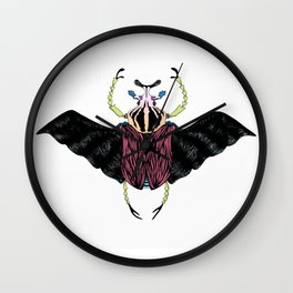 Beetle #2 Color Wall Clock