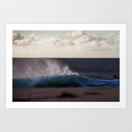 North Shore, Shore Break. Art Print