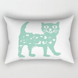 Mint cat drawing, cat drawing Rectangular Pillow