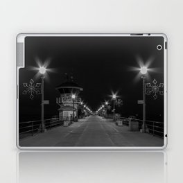 Early Morning Lights on Huntington Beach pier Laptop & iPad Skin