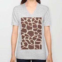 Giraffe Animal Pattern Print Unisex V-Neck