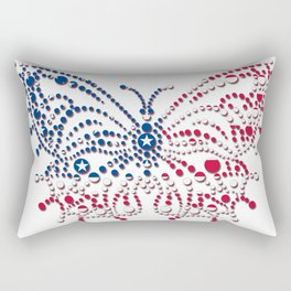 American Patriotic Colors Butterfly  Rectangular Pillow