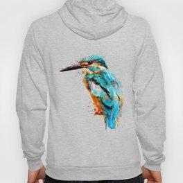 Watercolor kingfisher bird Hoody