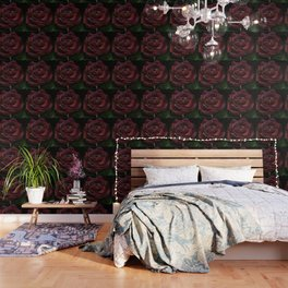 Flower, red rose, gothic beauti Wallpaper