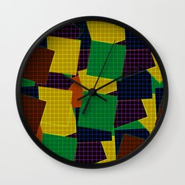 Beautiful patchwork Wall Clock