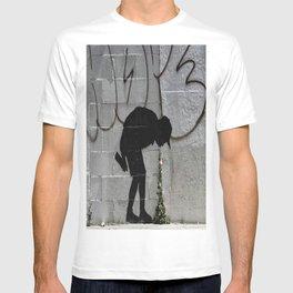 Bansky graffiti kid sick T-shirt