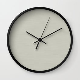 Soft Pale Creamy Beige Hand Painted Wall Clock