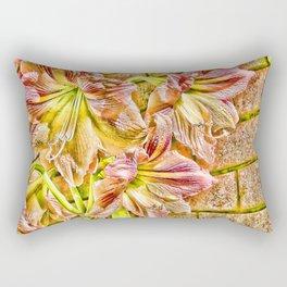 Vibrant abstract Amaryllis Rectangular Pillow