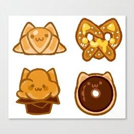 bakery kitties Canvas Print