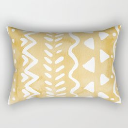 Loose bohemian pattern - yellow Rectangular Pillow