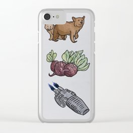 Bears, Beets, Battlestar Galactica Clear iPhone Case