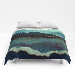 Indigo Mountains Comforters