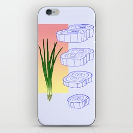 scallion cross section graphic iPhone Skin