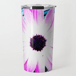 Making art with flower - blue tones Travel Mug