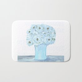 Boho still life flowers in vase Bath Mat