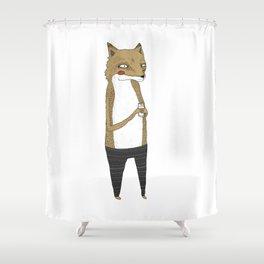 Fox and milk. Shower Curtain