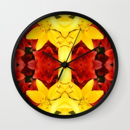 """""""A Gathering of Lilies"""" Remix - 1 (4-1) [D4465~12] Wall Clock"""